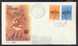 San Marino 1972 Europa Sparkles FDC - FDC
