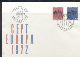 Switzerland 1972 Europa Sparkles FDC - FDC