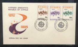 Cyprus 1972 Europa Sparkles FDC - Cyprus (Republic)