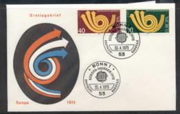 Germany 1973 Europa Posthorn Arrow FDC - [7] Federal Republic