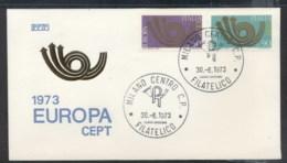 Italy 1973 Europa Posthorn Arrow FDC - 6. 1946-.. Republic