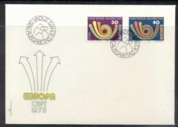 Liechtenstein 1973 Europa Posthorn Arrow FDC - FDC