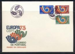 Portugal 1973 Europa Posthorn Arrow FDC - FDC