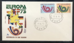 San Marino 1973 Europa Posthorn Arrow FDC - FDC