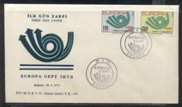 Turkey 1973 Europa Posthorn Arrow FDC - FDC