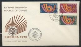 Cyprus 1973 Europa Posthorn Arrow FDC - Cyprus (Republic)