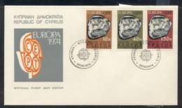 Cyprus 1974 Europa Sculpture FDC - Cyprus (Republic)