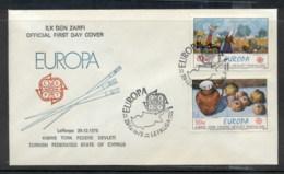 Cyprus Turkish 1975 Europa Paintings FDC - Cyprus (Turkey)