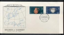Guernsey 1976 Europa Pottery FDC - Guernsey