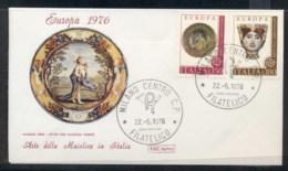 Italy 1976 Europa Pottery FDC - 6. 1946-.. Republic