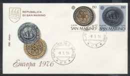 San Marino 1976 Europa Pottery FDC - FDC