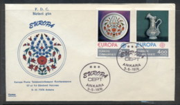 Turkey 1976 Europa Pottery FDC - 1921-... Republic