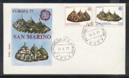 San Marino 1977 Europa Landscapes FDC - FDC