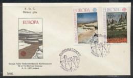 Turkey 1977 Europa Landscapes FDC - FDC