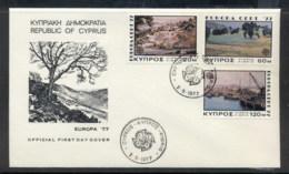 Cyprus 1977 Europa Landscapes FDC - Cyprus (Republic)