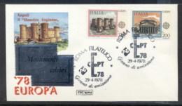 Italy 1978 Europa Architecture FDC - 6. 1946-.. Republic