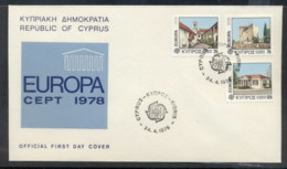 Cyprus 1978 Europa Architecture FDC - Cyprus (Republic)