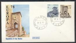 San Marino 1978 Europa Architecture FDC - FDC