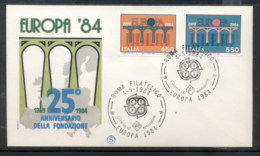 Italy 1984 Europa Bridge FDC - 6. 1946-.. Republic