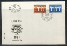 Yugoslavia 1984 Europa Bridge FDC - FDC