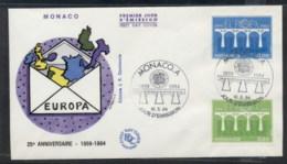 Monaco 1984 Europa Bridge FDC - FDC