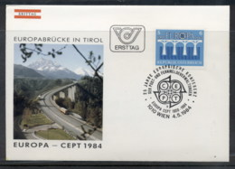 Austria 1984 Europa Bridge FDC - FDC