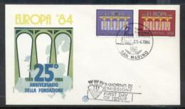 San Marino 1984 Europa Bridge FDC - FDC