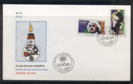 Turkey 1994 Europa Scientific Discoveries FDC - 1921-... Republic