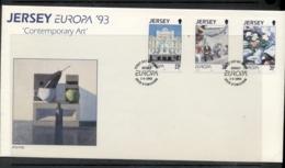 Jersey 1993 Europa Modern Art FDC - Jersey