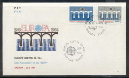 Turkey 1984 Europa Bridge FDC - FDC