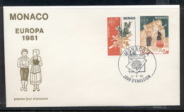 Monaco 1981 Europa Folklore FDC - FDC