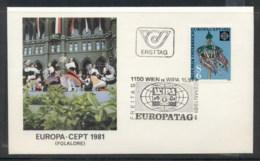 Austria 1981 Europa Folklore FDC - FDC