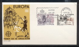 Spain 1981 Europa Folklore FDC - FDC