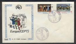 Turkey 1981 Europa Folklore FDC - 1921-... Republic