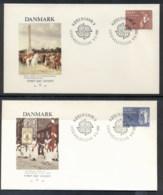 Denmark 1982 Europa History 2x FDC - FDC