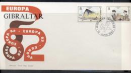 Gibraltar 1982 Europa History FDC - Gibraltar