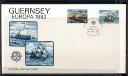 Guernsey 1982 Europa History FDC - Guernsey
