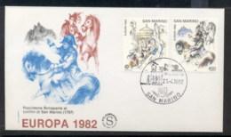 San Marino 1982 Europa History FDC - FDC
