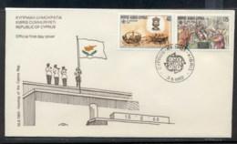 Cyprus 1982 Europa History FDC - Cyprus (Republic)