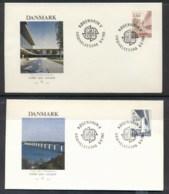 Denmark 1983 Europa Human Genius 2x FDC - FDC
