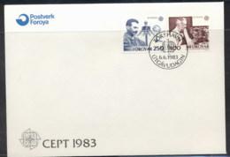 Faroe Is 1983 Europa Human Genius FDC - Faroe Islands