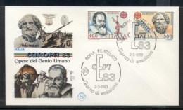 Italy 1983 Europa Human Genius FDC - 6. 1946-.. Republic