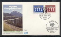 Germany 1984 Europa Bridge FDC - [7] Federal Republic