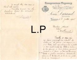33-0303   1908 EXPLOITATION OLEICOLE LOUIS DURAND A SALON - M. RIPERT A MALLEMORT - 1900 – 1949