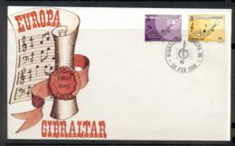 Gibraltar 1985 Europa Music Year FDC - Gibraltar