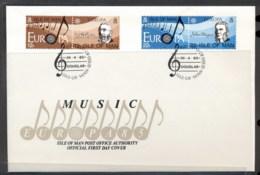 Isle Of Man 1985 Europa Music Year FDC - Isle Of Man