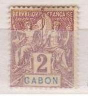 GABON    N°  YVERT  :   17     NEUF AVEC  CHARNIERES      ( Ch  2/08  ) - Unused Stamps