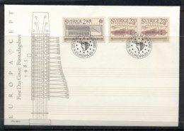 Sweden 1985 Europa Music Year FDC - FDC