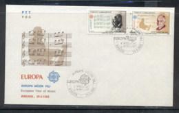 Turkey 1985 Europa Music Year FDC - 1921-... Republic