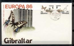 Gibraltar 1986 Europa Environment FDC - Gibraltar